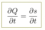 LaTeX] Write partial differential equation (Ex  dQ/dt=ds/dt