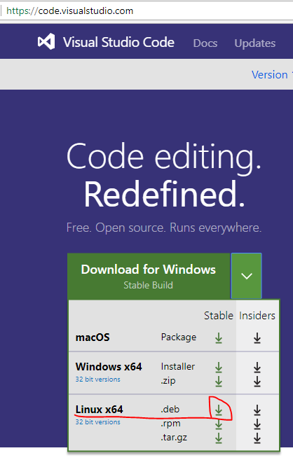 How to install Visual Studio Code text editor on Ubuntu
